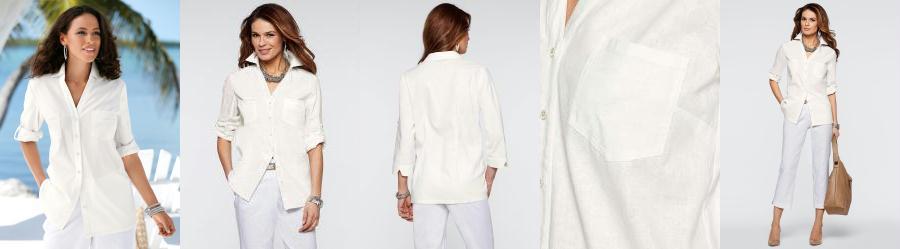 97ed24d577 0.0 Camisa de Linho Off White
