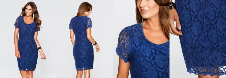 f2e7ae38f3 0.0 Vestido de Renda com Pérolas Azul