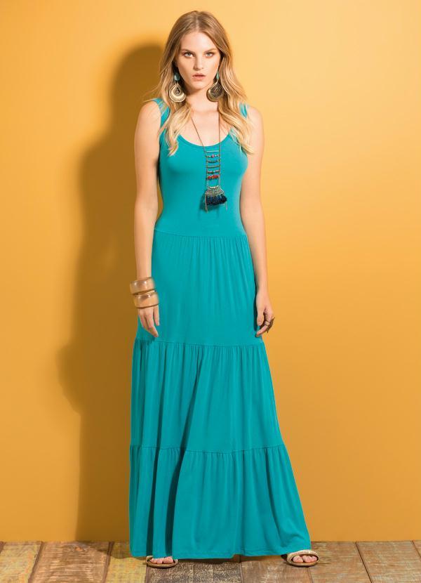 Vestido longo azul tiffany para comprar