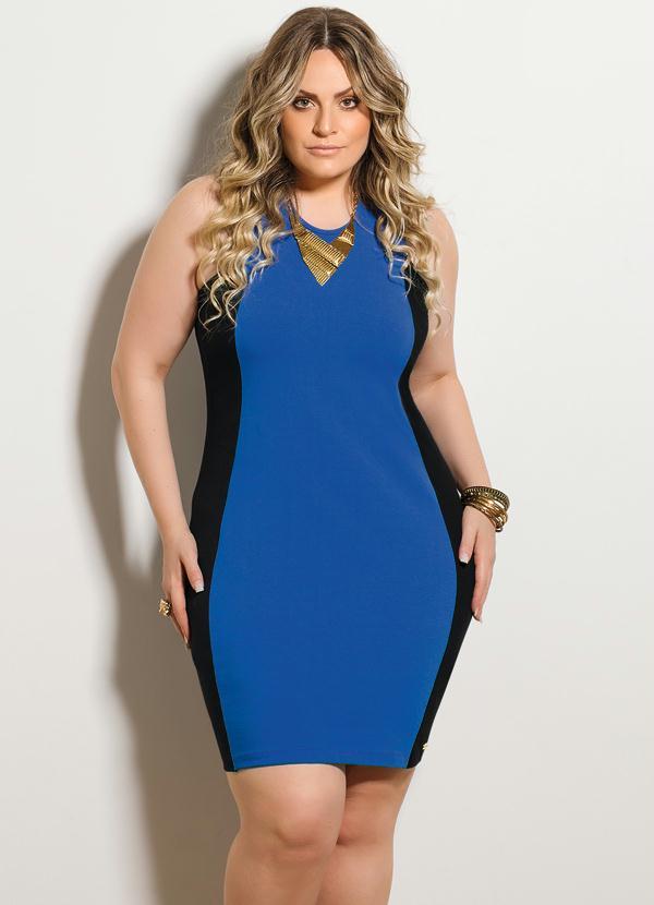 Vestido de tubinho azul