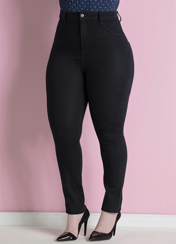 f947d1314 Calça Jeans Skinny Marinho Plus Size - Quintess