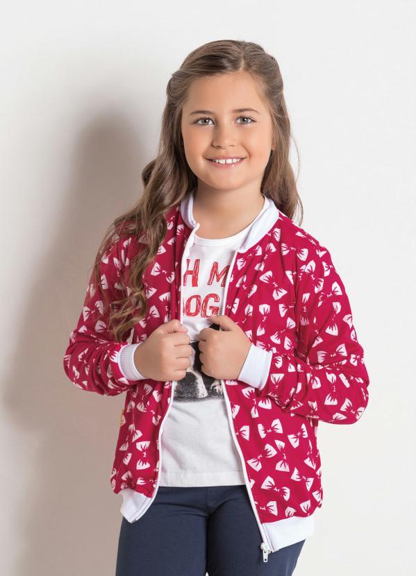 Moda Pop - Jaqueta Bomber Laços Banco Bicolor com Zíper