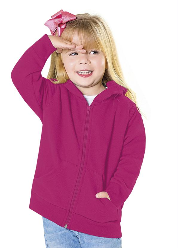 Fakini Kids - Jaqueta com Capuz Rosa Every Day