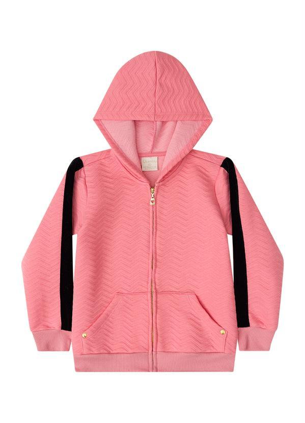 Quimby - Jaqueta de Moletom Infantil Rosa
