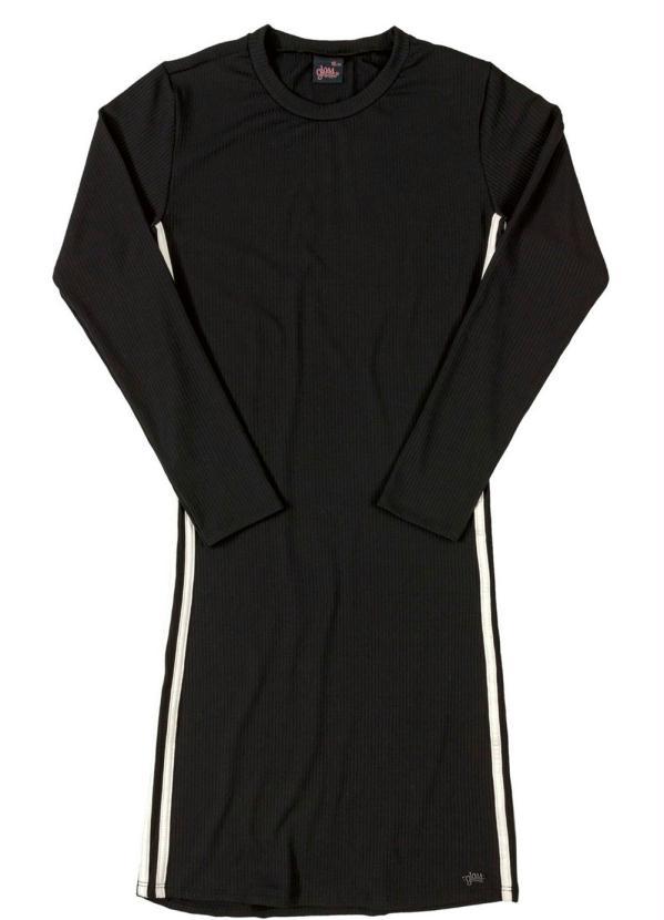 Gloss - Vestido Inverno Manga Longa Preto