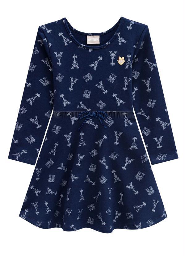 Milon - Vestido Azul Marinho