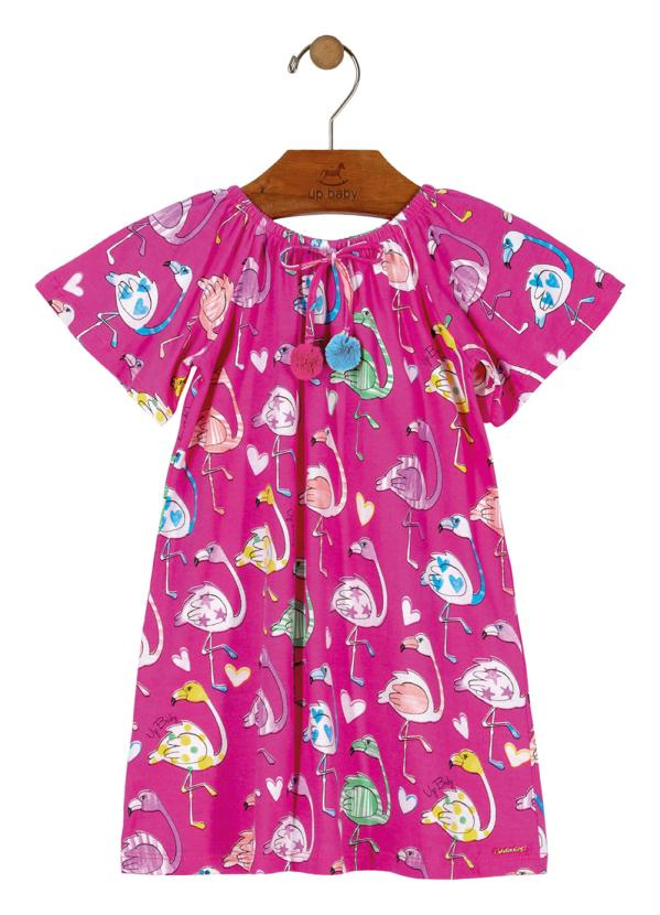 Up Baby - Vestido Estampado Rosa