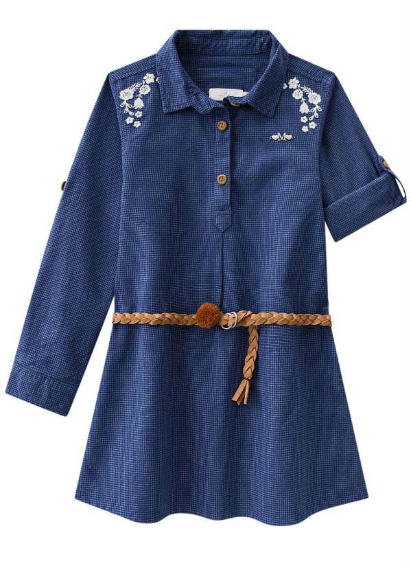 Milon - Vestido Infantil Azul