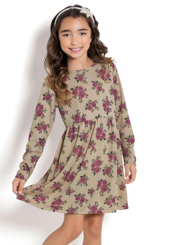 Queima Estoque - Vestido Infantil Floral Kollor Magic