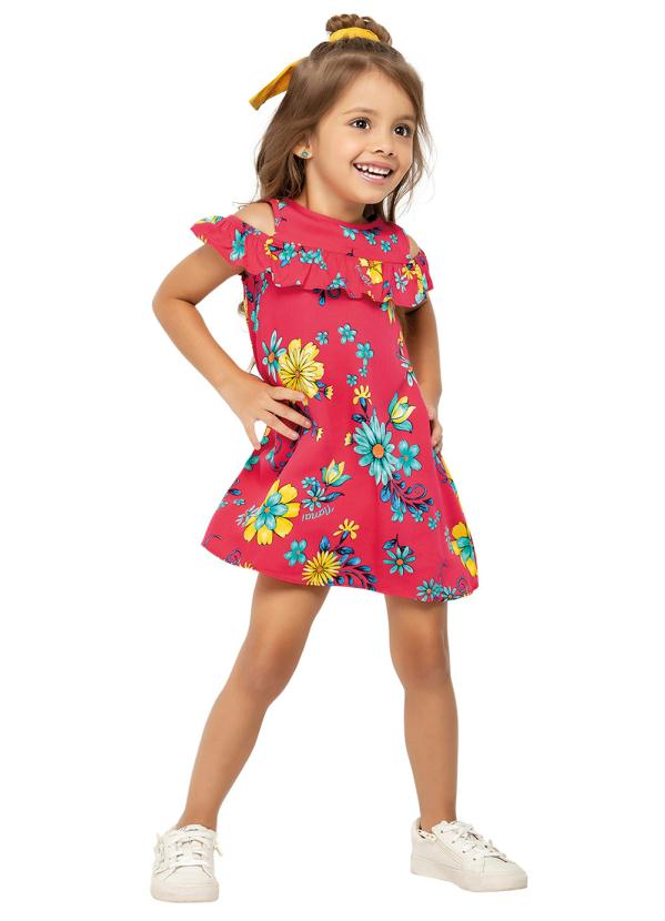 Nanai - Vestido Infantil Vemelho Nanai