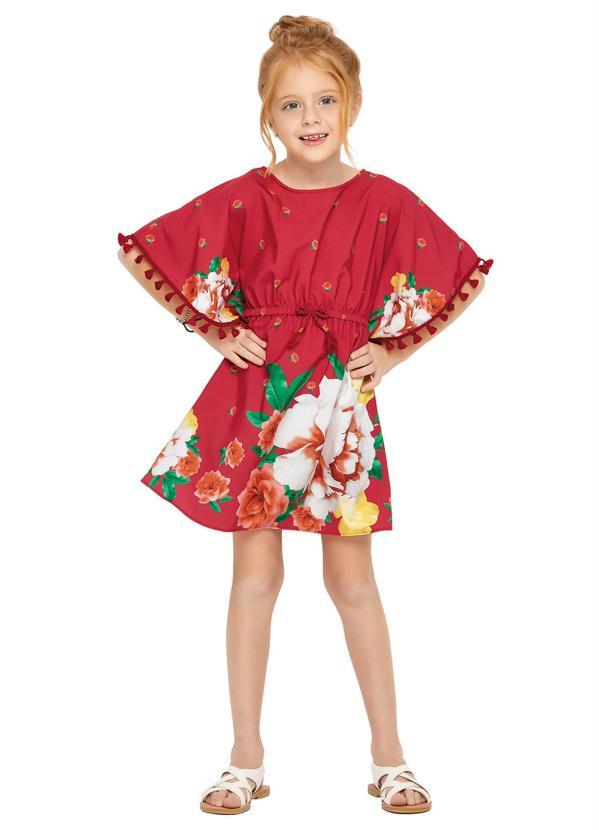 Nanai - Vestido Infantil Vermelho Nanai