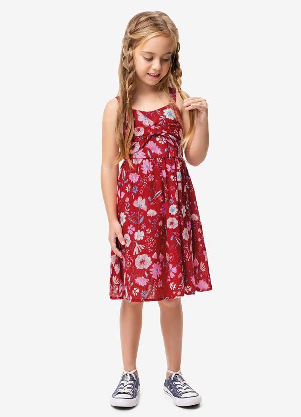 Malwee Kids - Vestido Vermelho Laço Menina Malwee Kids