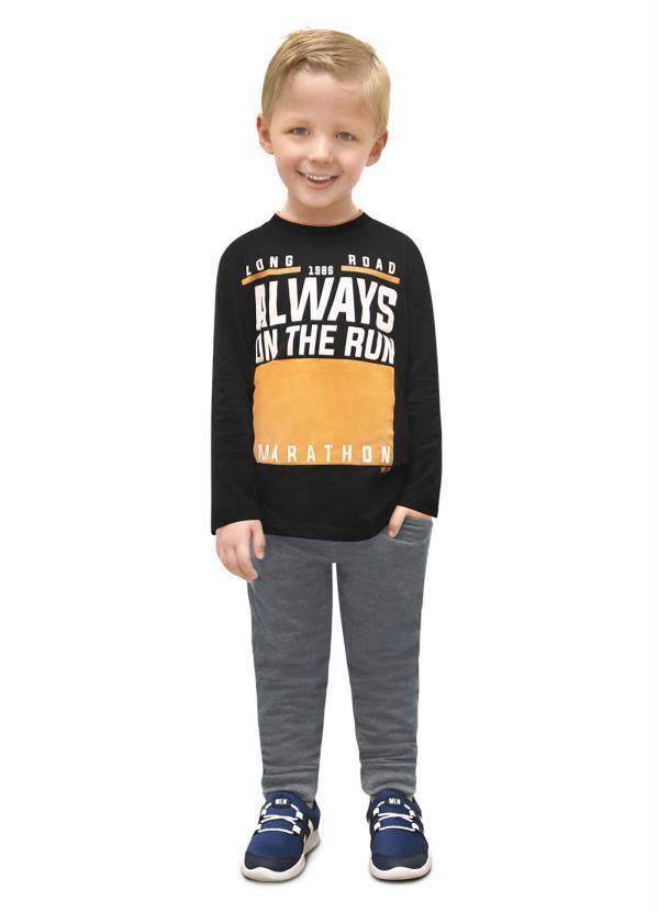 Milon - Conjunto Camiseta e Calça Preto