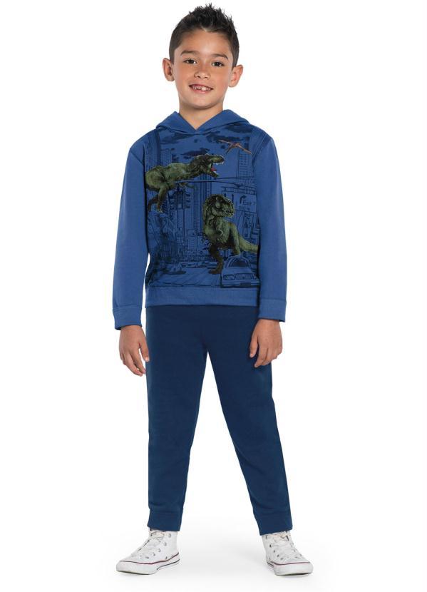 Rovitex Kids - Conjunto Infantil Dinossauro Azul