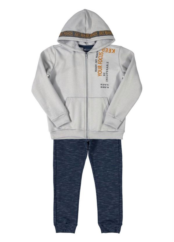 Quimby - Conjunto Infantil Jaqueta e Calça Cinza