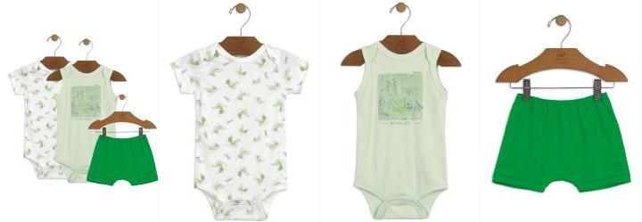 1a57806e8f 0.0 Kit Bebê 02 Bodies e Short Verde Up Baby