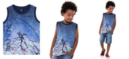 df6a43eb1d 0.0 Regata Estampada Azul Infantil Quimby