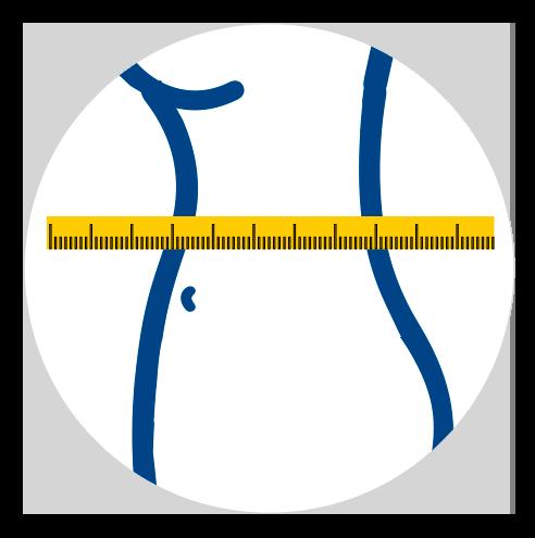 imagem para medir lateral do busto